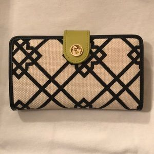 NEW Spartina Seven Oaks Black/Lime Wallet